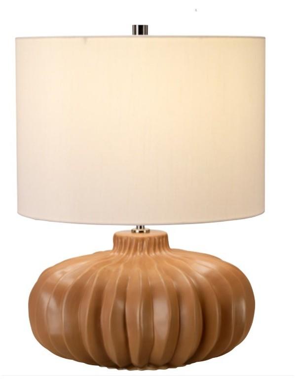 WOODSIDE TL stołowa lampa ze spłaszczona podstawą - Elstead