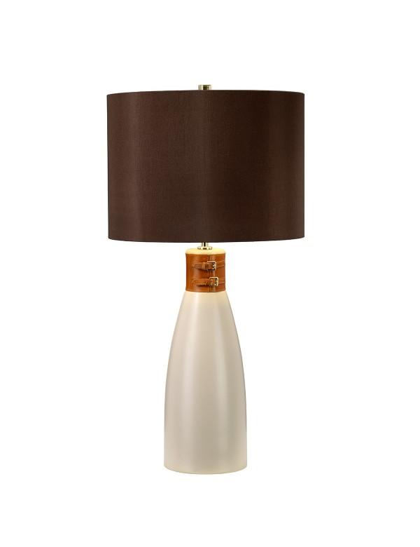 Lampa na stół przepasana skórzanym pasem HAMMERSMITH TL - Elstead