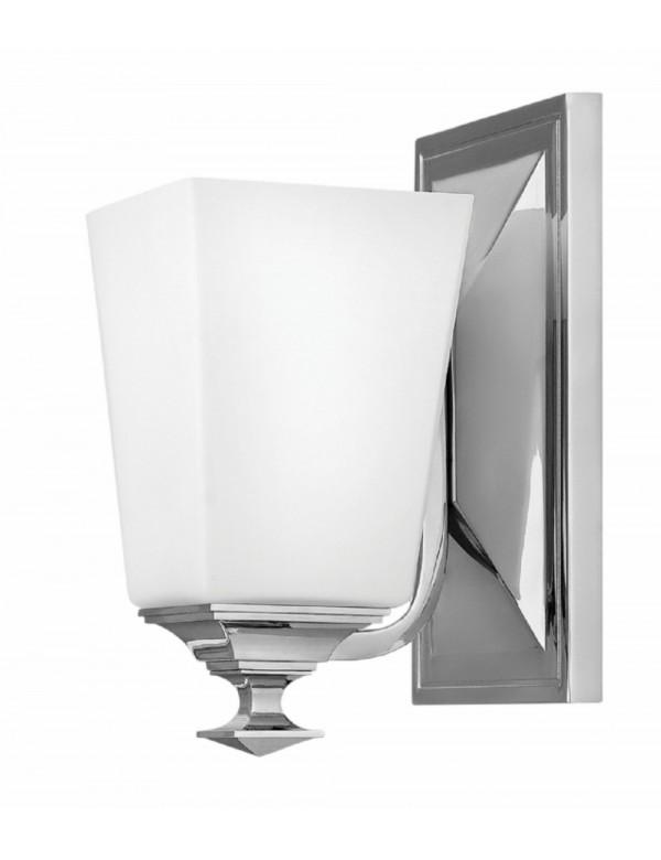 Kinkiet łazienkowy BALDWIN 1 - klosz ze szkła opalowego - Hinkley