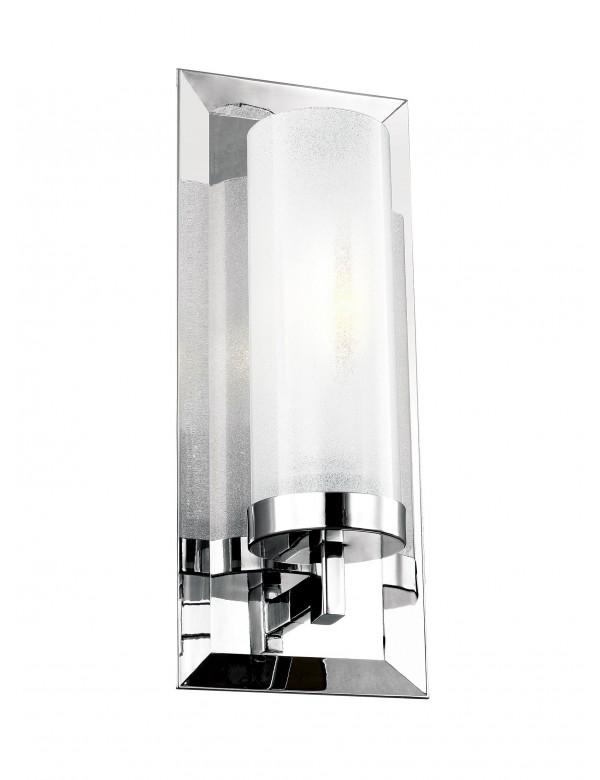 PIPPIN 1 ścienna lampa do łazienki z pionowym szklanym kloszem - Feiss