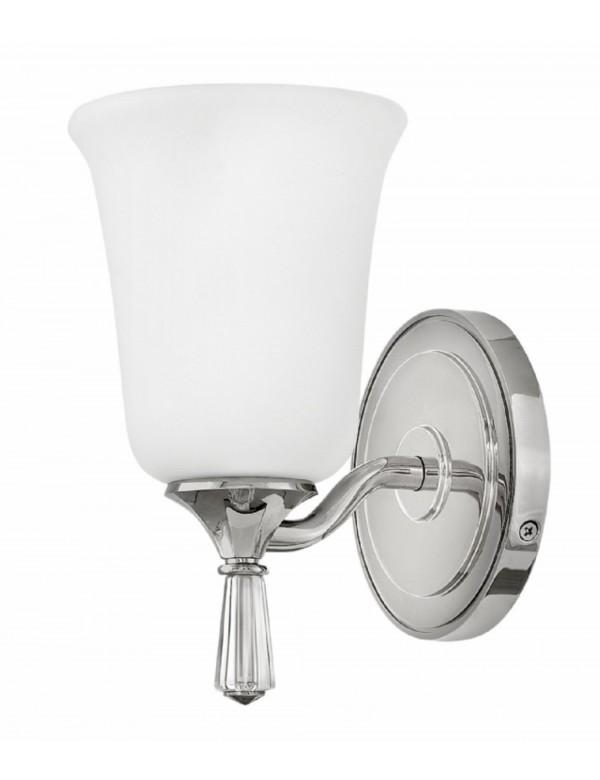 BLYTHE 1 łazienkowa lampa ścienna z mlecznym kloszem - Hinkley