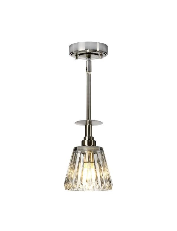 Łazienkowa lampa z rzeźbionym szklanym kloszem AGATHA 1P - Elstead