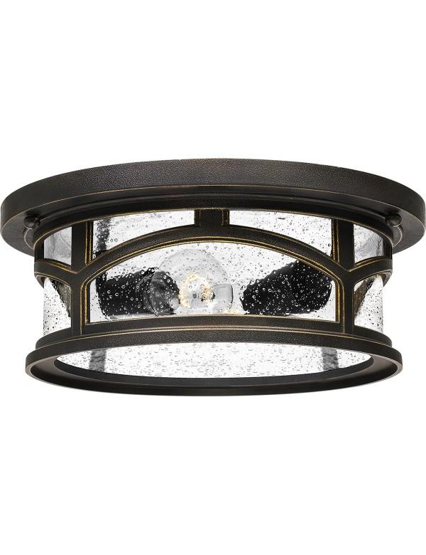 MARBLEHEAD F ziarniste szkło w łukowatej konstrukcji plafonu - Quoizel