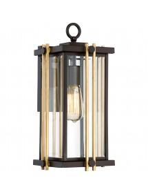 GOLDENROD 2 M ogrodowa lampa ścienna ze złoty wstawkami poprzecznymi - Quoizel
