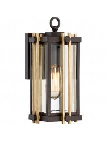 Ciekawa lampa ogrodowa przytwierdzana do ściany elewacji GOLDENROD 2 S - Quoizel