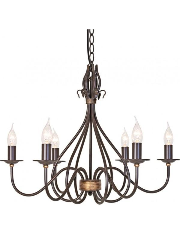 Klasyczny żyrandol z sześcioma ramionami Windermere 6lt - Elstead Lighting