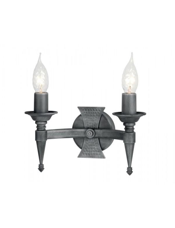 Urokliwy kinkiet dwupłomienny Saxon 2lt - Elstead Lighting