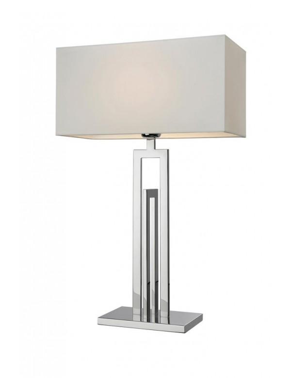 Stalowa lampa stołowa z białym abażurem CITY 62 - Sompex