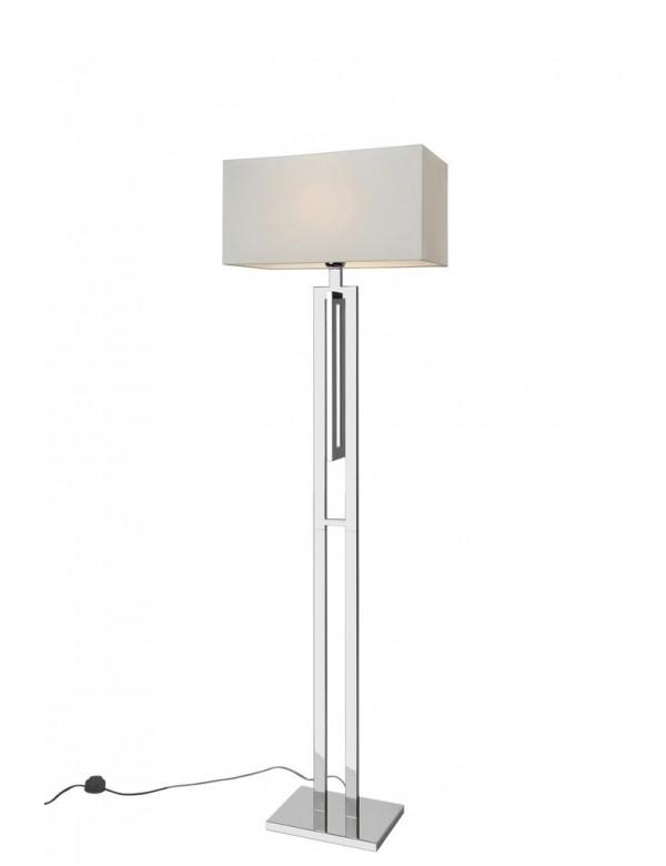 Podłogowa lampa CITY LP ze stylowym abażurem - Sompex