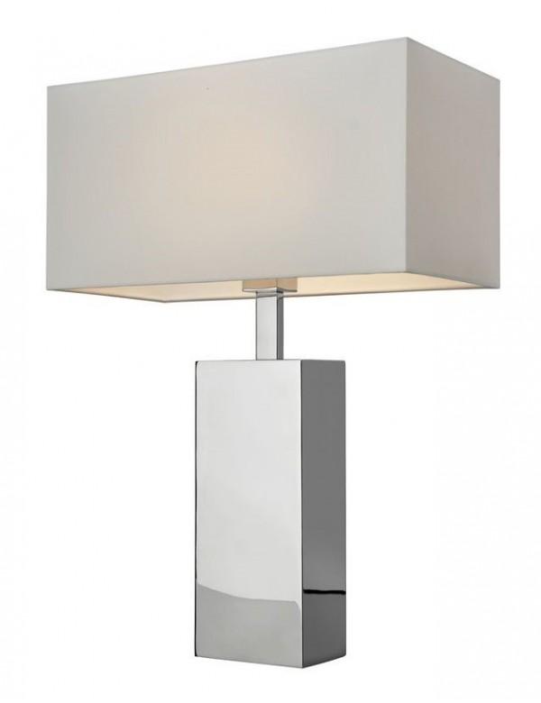 BLOCK 56 srebrna lampka stołowa do każdego wnętrza - Sompex