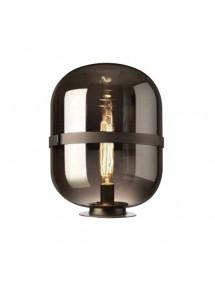 Stołowa lampa BALONI LS z przydymionym kloszem w kształcie kapsuły - Sompex