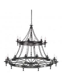 Czarujący żyrandol klasyczny Warwick 18lt - Elstead Lighting