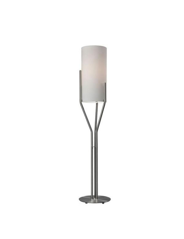 NEPTUNO LP2 satynowa lampa podłogowa z mlecznym kloszem - Sompex