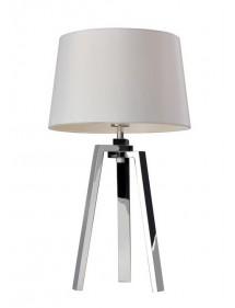 Stołowa lampa z polerowanej stali nierdzewnej TRIOLO LS - Sompex