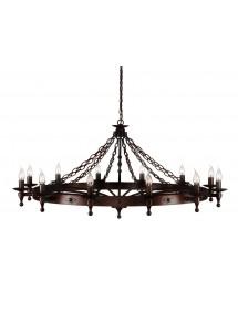 Duży żyrandol dwunastopłomienny Warwick 12lt - Elstead Lighting