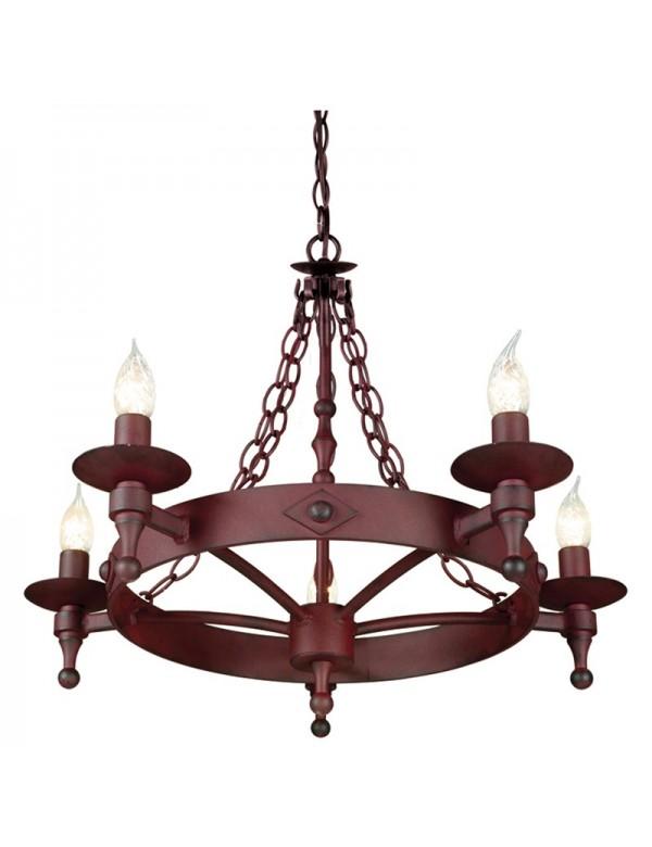 Nietuzinkowy żyrandol klasyczny Warwick 5lt - Elstead Lighting