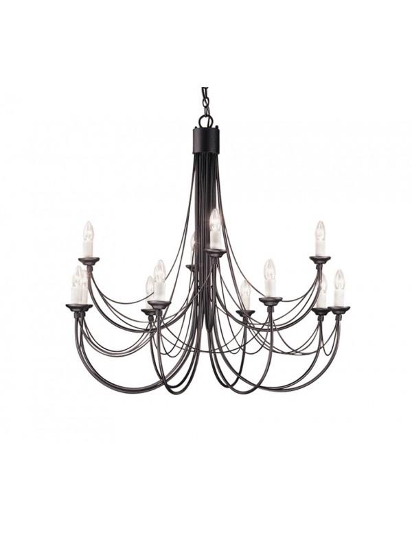 Duża oprawa wisząca w klasycznym stylu Carisbrooke 12lt - Elstead Lighting