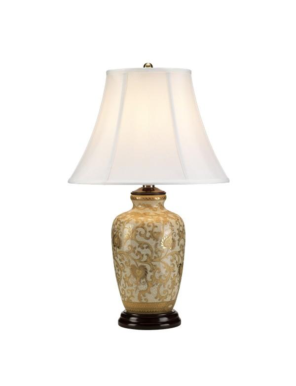 Niepowtarzalna lampa stołowa Gold Thistle - Lui's Collection