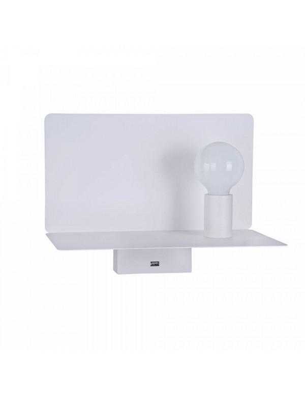RACK stołowa lampka z półeczką i portem USB - Maytoni