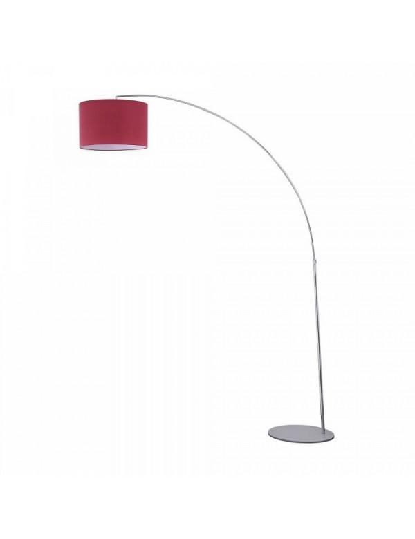 NEVADA LP podłogowa lampa na łuku z płóciennym abażurem - Maytoni