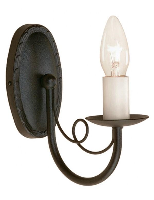 Jednopłomienny kinkiet klasyczny Minster MN1 BLK - Elstead Lighting