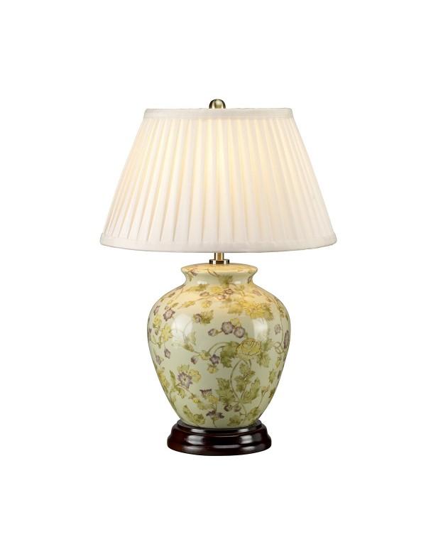 YELLOW FLOWERS lampa ceramiczna z motywem kwiatowym  - Lui's Collection