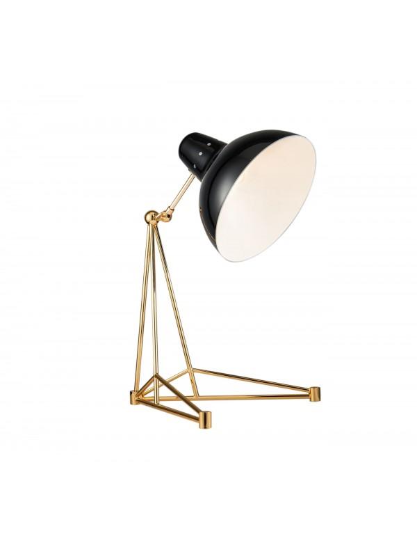 Lampa na stół SIMONE 1 na złotym statywie - Pallero