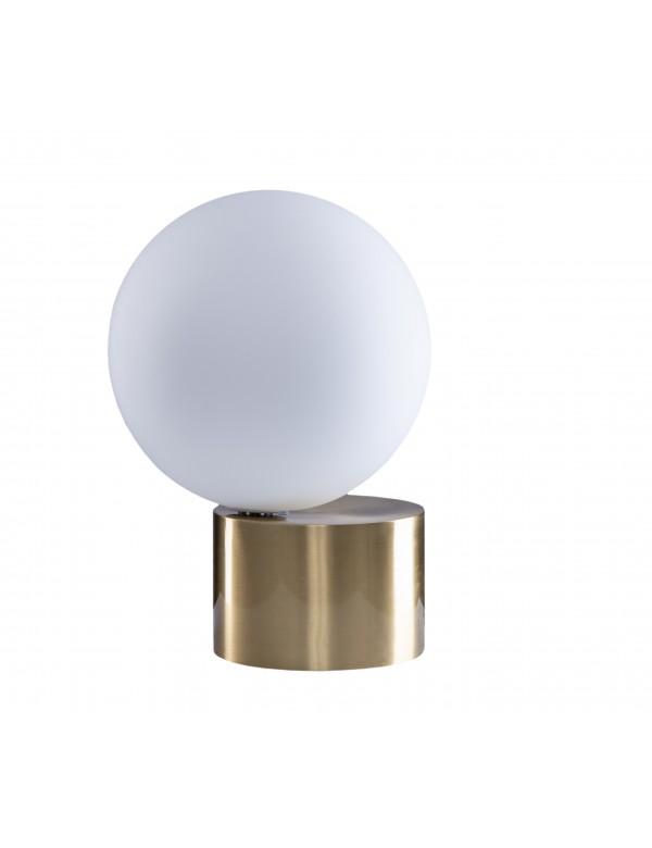 Stołowa lampa ROSHE 1 szklana kula na metalowej podstawie - Pallero