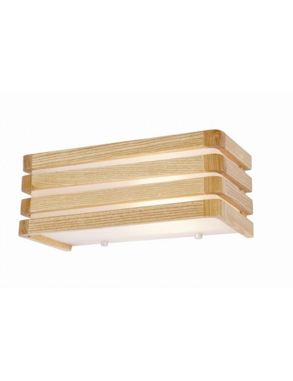 Kinkiet ścienny z drewnianymi żeberkami FRANKLIN 1 - Auhilon