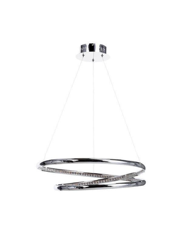 Lampa BALVI 55 chromowane okręgi led zdobione kryształkami - Zuma Line