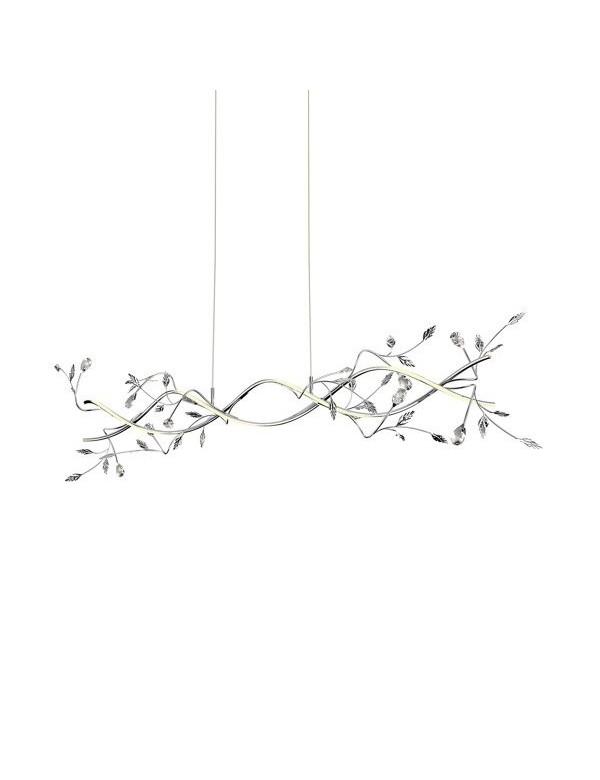 Wisząca lampa BELLE W z roślinna ornamentyką - Zuma Line