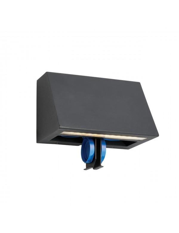 SKI 1 ogrodowa lampa fasadowa z dystrybutorem energii - Norlys