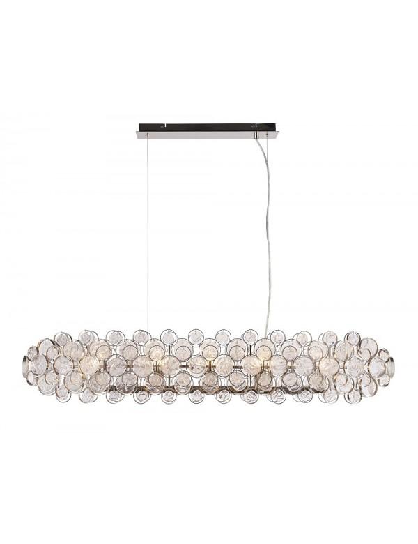 Lampa MARELLA 8 z ręcznie wykonanymi szklanymi medalionami - Endon