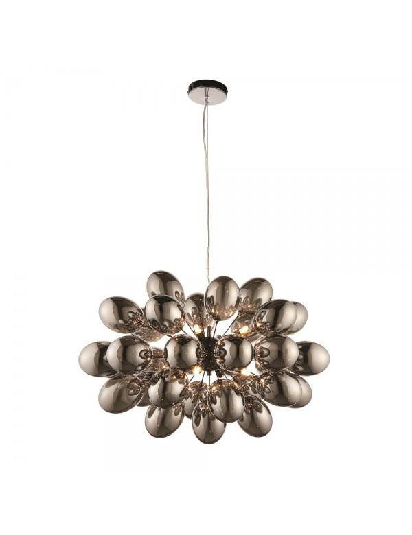 Lampa wisząca INFINITY 8 z owalnymi szklanymi bańkami - Endon