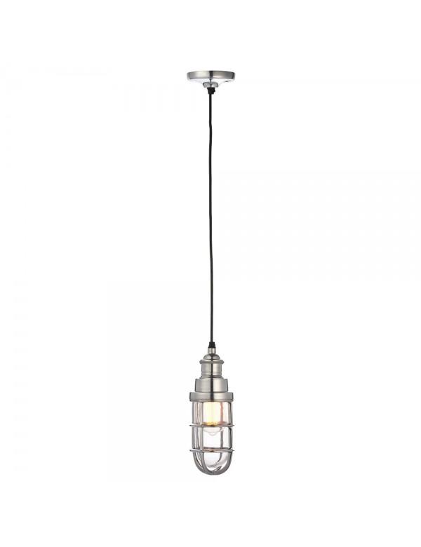 ELCOT 1 pojedyncza lampa wisząca w kolorze polerowanego aluminium - Endon
