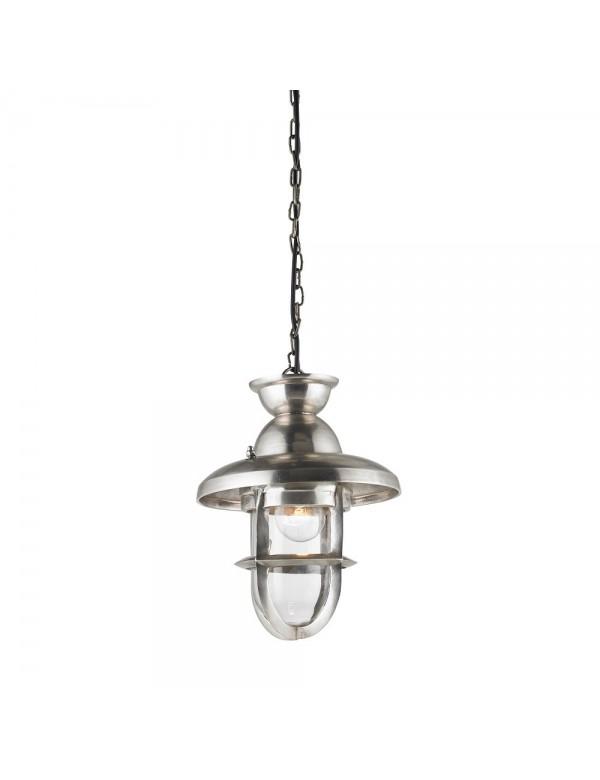 Matowa srebrna lampa wisząca ROWLING L - Endon