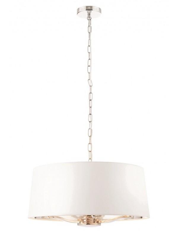 HARVEY 1 biała lampa z metaliczną podszewką - złoto, nikiel - Endon