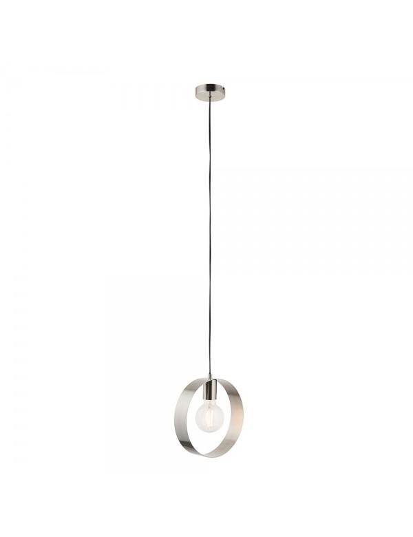 Lampa wisząca HOOP W metalowy podwieszany okrąg - Endon