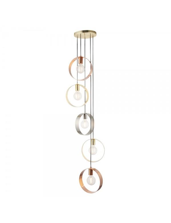 HOOP 5 różnokolorowa lampa wisząca - Endon