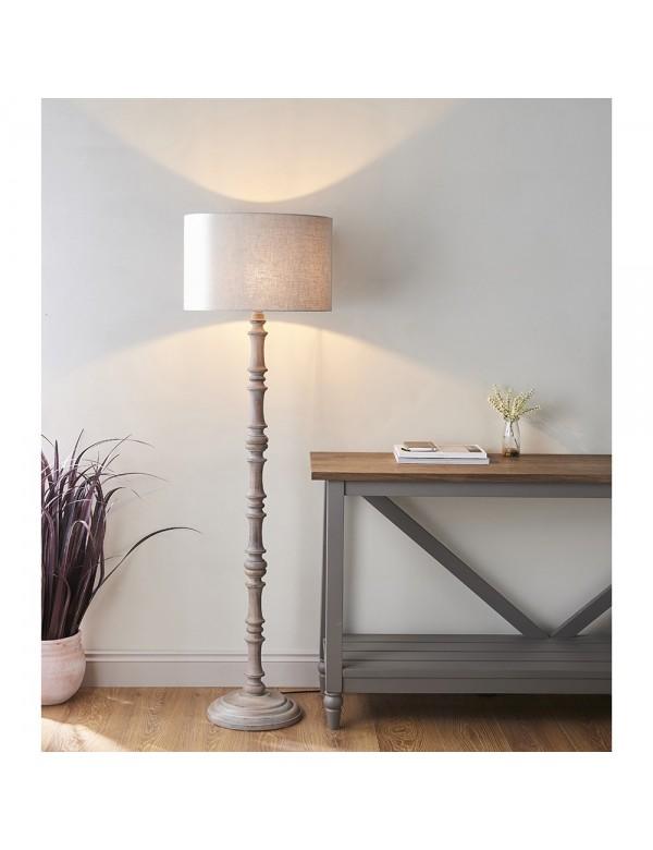 Stojąca lampa ELIJAH LP o drewnianej drążonej konstrukcji - Endon