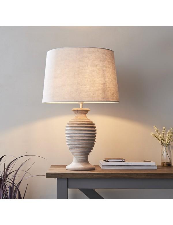 SABARA LS lampa stołowa z bielonego drewna - Endon