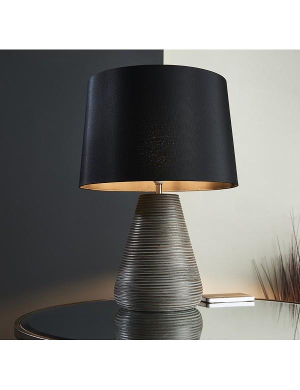 MAHALLA TABLE drewniana lampa na stolikowa ze stożkową podstawą- Endon
