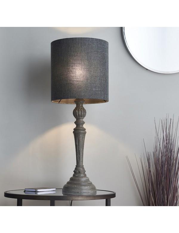 Stołowa lampa MOHAN TABLE z podstawą z drewna - Endon