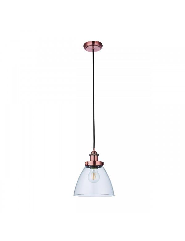 HANSEN W lampa wisząca z przeźroczystym kloszem - Endon