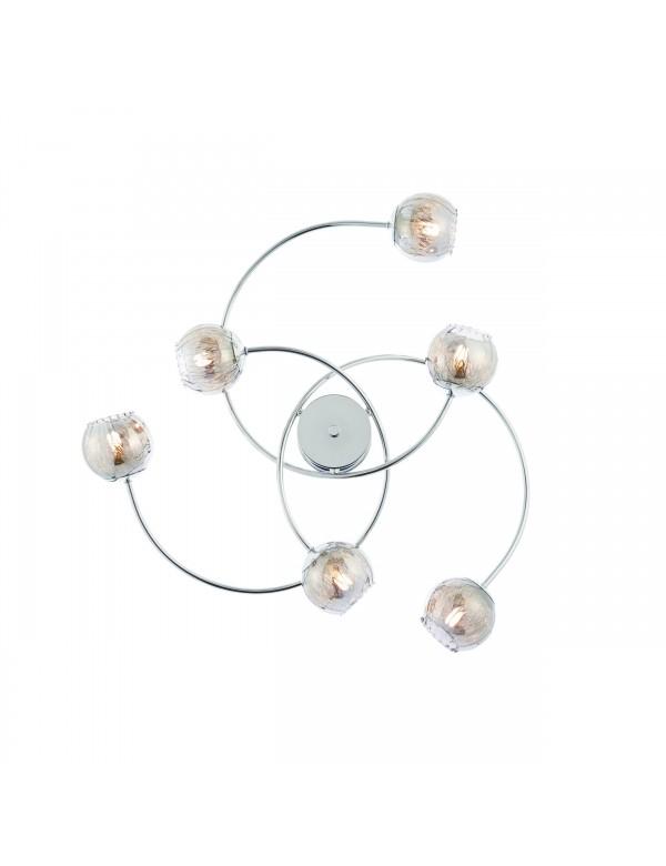 Sufitowa lampa AERITH P3 z sześcioma kloszami na pałąkach - Endon