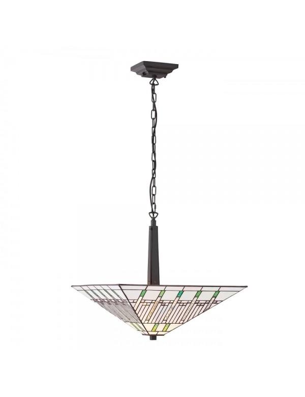 Lampa witrażowa MISSION 2L wisząca lampa Tiffany - Interiors 1900