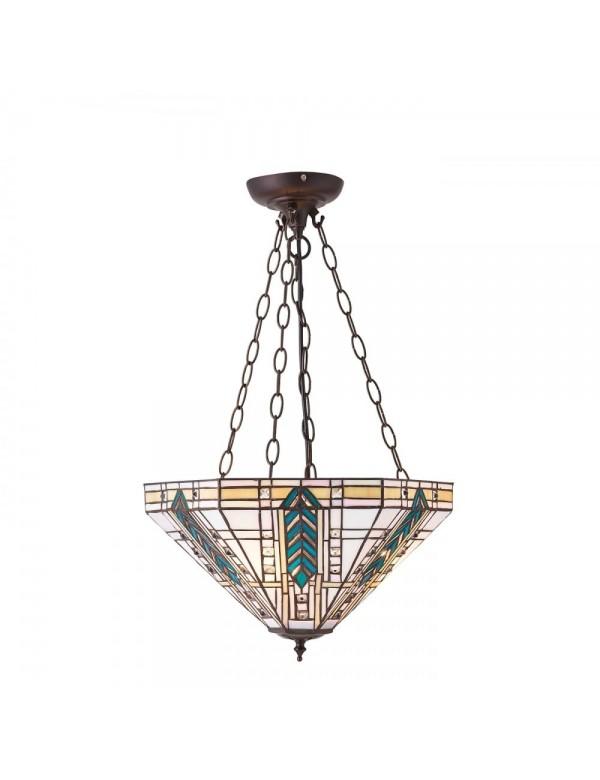 Lampa wisząca LLOYD 3M BRASS na czterech łańcuchach - Interiors 1900