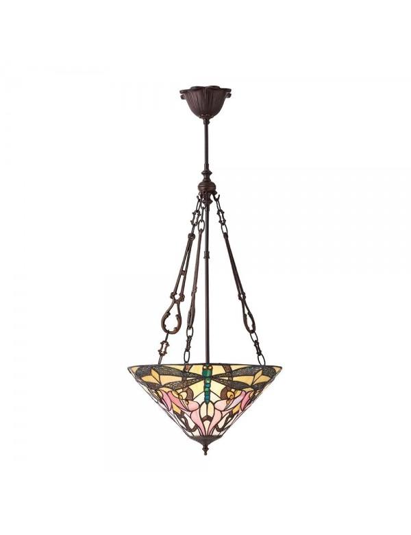 ASHTON 3M wisząca lampa witrażowa z odwróconym kloszem - Interiors 1900
