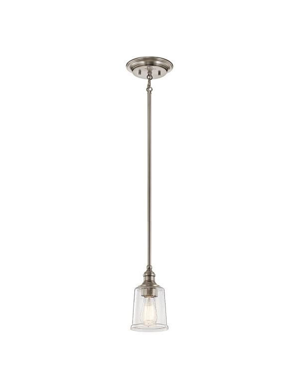 Pojedyncza lampa wisząca ze szklanym kloszem WAVERLY MP - Kichler