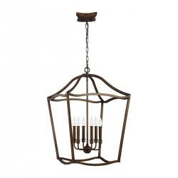 Duża lampa wisząca YARMOUTH 6P stylizowana latarnią - FEISS